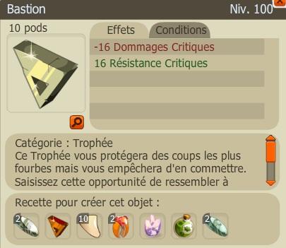 Recette Nouveaux Trophées  Bastion