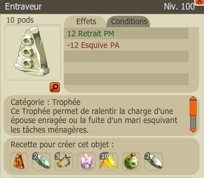 Recette Nouveaux Trophées  Entraveur