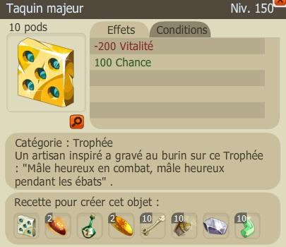 Recette Nouveaux Trophées  TaquinM2